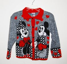 Vintage Sweater Minnie and Mickey Sweethearts by ChristmasVintage, $14.00