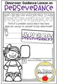 A classroom guidance lesson on the character education trait of perseverance. Use in the regular classroom or as a part of the school counseling program for through graders. Guidance Lessons, Character Education, A Classroom, School Counselor, Teacher Pay Teachers, Counseling, Messages, How To Plan, Kids
