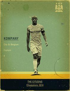 Manchester City - 2014 Champions by Jon Rogers, via Behance