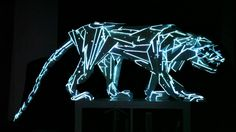 I chose this video of a Panther sculpture being porjected upon, it inspires me to do something similar, sch as maybe creating an animal or object and making a projection that would create the illusion of that object being alive. Interactive Installation, Interactive Art, Light Installation, 3d Projection Mapping, Digital Projection, Systems Art, Information Art, Bio Art, New Media Art