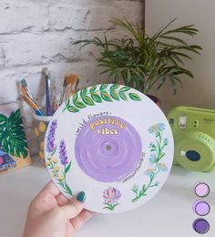 New art decor for my room🌿 I really love this pastel colors✨ 🌻Save if you liked this art idea 🧚♀️Inspired b Small Canvas Art, Mini Canvas Art, Aesthetic Painting, Aesthetic Art, Aesthetic Colors, Record Wall Art, Cd Wall Art, Cd Art, Drawing Wallpaper
