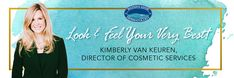 "For April, we're showering you with #Beauty: ""Kim's Cosmetic Tips & Special Offers""! #AestheticMedicine"