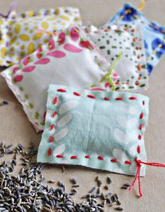 Lavender Sachet DIY Kid Sewing Project Easy Sewing DIY for Kids Teach Kids to Sew Handmade Childhoods: The Blog by Fleur + Dot HandmadeChildhoods.com