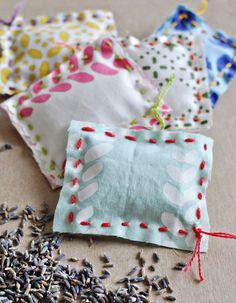 Lavender Sachet DIY Kid Sewing Project Easy Sewing DIY for Kids Teach Kids to Sew Handmade Childhoods: The Blog by Fleur + Dot HandmadeChildhoods.com