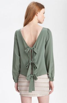 Paper Crown 'Jessamine' Tie Back Silk Top #bows