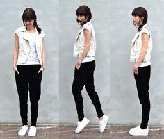 White / Black (by Lucy De B.) http://lookbook.nu/look/3468799-White-Black