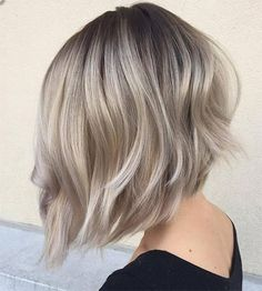 50 Ash Blonde Hair Color Ideas Ash blonde is a shade of blonde that's slightly gray tinted with cool undertones. Today's article is all about these pretty 50 Ash Blonde Hair Color. Long Graduated Bob, Graduated Bob Hairstyles, Bob Hairstyles 2018, Short Hairstyles Fine, Inverted Bob Hairstyles, Short Bob Haircuts, Graduated Hair, Haircut Bob, Haircut Short