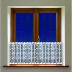 Rustik, bílá záclona/výška 60cm/metráž Chandelier, Ceiling Lights, Curtains, Lighting, Home Decor, Candelabra, Blinds, Decoration Home, Room Decor