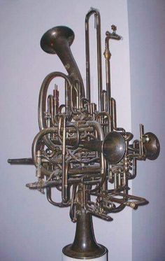 Ultimate brass instrument - I don't have a clue.  Looks like someone had too much time on their hands!