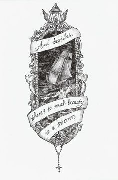 There's so much beauty in a storm- tattoo idea Music Tattoos, Body Art Tattoos, New Tattoos, Tatoos, Tattoo Art, Cameo Tattoo, Tattoo Quotes, Ship Tattoos, Woman Tattoos