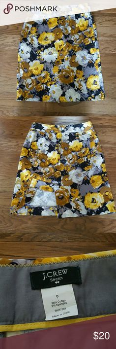 J. Crew Pencil Skirt J Crew floral sateen stretch pencil skirt. Excellent condition. J. Crew Skirts