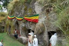 ****Ethiopia's Adadi Mariam Rock-Hewn Church and the Sacred Stone.****  In Adadi Mariam there is a stone which locally considered as sacred. A person who can hold it in his / her shoulder is not a sinner according to the legendary belief of the local people. The stone is dark brown and measures 43x43 centimeter. (see photo) The church is located 55 kilometers to the south of Addis Ababa on the main road of Butajera after passing of Melka Kunture pre-historic archaeological site, and before…