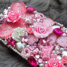 3d Crystallized Swarovski Bling Pink Butterfly Romantic Case For HTC One(New 2013 Model)
