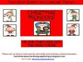 Christmas Pronouns- HE, SHE, THEY, HIM, HER, HIS, HERS, THEIRS product from Twin-Sister-Speech on TeachersNotebook.com