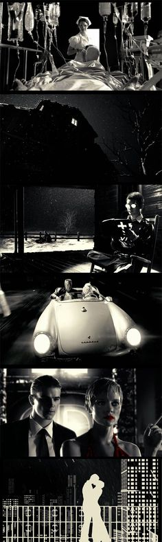 Sin City, great visuals. #cinematography