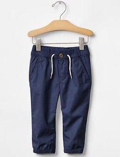 GAP Baby Boy 3-6 Months NWT Navy Blue Poplin Jogger Pull-On Pants