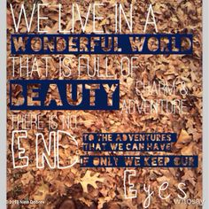 ♪what a wonderful world♫