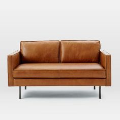 Axel Leather Loveseat | west elm
