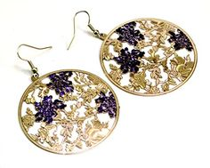 A Pair of Indian White Metal Cute Floral Design Boho Hippie Danglers Earrings Krishna Mart India http://www.amazon.com/dp/B00UNFF95S/ref=cm_sw_r_pi_dp_9LxEvb08SY9C7