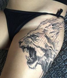 The demand for women's tattoos increases year-on-year, especially in the United States. Badass Tattoos, Sexy Tattoos, Body Art Tattoos, Sleeve Tattoos, Tatoos, Trendy Tattoos, Small Tattoos, Tattoos For Women, Lion Head Tattoos