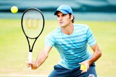 Roger Federer Halle practice