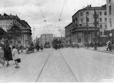 ul. Wolska przy rogatkach wolskich. fot.1931r., źr. Narodowe Archiwum Cyfrowe