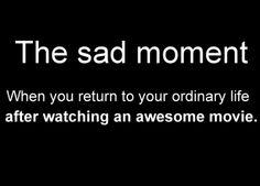 the sad moment