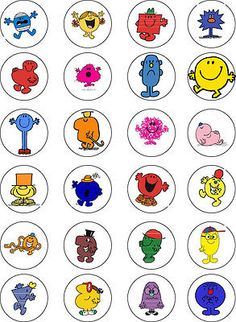 Mr men edible cupcake #wafer #paper #toppers x 24,  View more on the LINK: http://www.zeppy.io/product/gb/2/281254485442/
