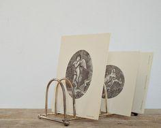 vintage TOAST RACK french toast holder letter by viadeinavigli