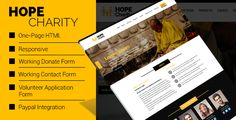 Hope Charity - One-Page Non Profit Website Template HTML