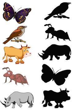 easy_shadow_match_worksheets_for_preschool (14) | Crafts and Worksheets for Preschool,Toddler and Kindergarten