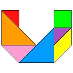 Tangram Letter U - Tangram Letra U