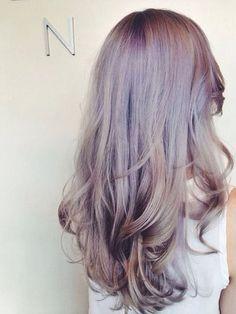lavender/blonde hair