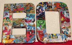 Comic Book Letters Wall Hangers Avengers, Super Hero Squad, Batman, Superman, XMEN