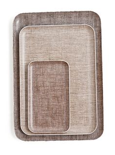 linen coating trays