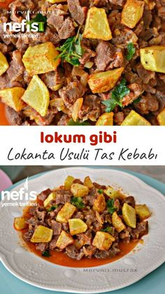 Tas Kebabı ( Lokum Gibi ) – Nefis Yemek Tarifleri – Et Yemekleri – The Most Practical and Easy Recipes Turkish Delight, Turkish Recipes, Ethnic Recipes, Turkish Kitchen, Kebab, Wie Macht Man, Interior Design Kitchen, Food Pictures, One Pot