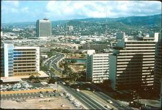 looking Ewa from the new Ilikai Tower 1964 Oahu Hawaii, Maui, Ala Moana, Hawaii Homes, Vintage Hawaii, The Old Days, Archipelago, Pacific Ocean, San Francisco Skyline