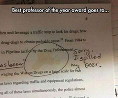 Professors Need Beer To Get Through Grading