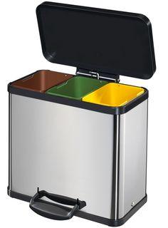 Objetos l Lixeira reciclável Home Room Design, Interior Design Living Room, Kitchen Design, House Essentials, Kitchen Essentials, Home Gadgets, Kitchen Gadgets, Kitchen Items, Kitchen Decor