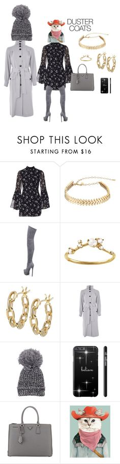 """""""Duster-too many rodeos for me!"""" by mkdetail ❤ liked on Polyvore featuring Rebecca Minkoff, Casadei, WWAKE, TILDA BIEHN, Topshop and Prada"""