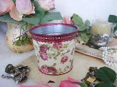 giovana / Ruža - kráľovná kvetov  kvetináč decoupage