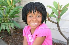 Short Yarn Crochet Twists with Bangs and Protected Edges {Tutorial}   Chocolate Hair / Vanilla Care