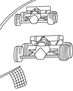 track race two car f1 coloring page race car car coloring pages