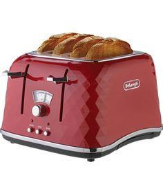 Buy De'Longhi Brillante 4 Slice Toaster - Red at Argos.co.uk - Your Online Shop for Toasters.