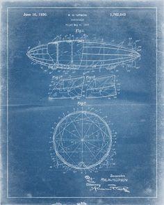 Racing schooner yacht atlantic 1905 blueprint plan boating and dirigible airship patent print industrialprints malvernweather Gallery