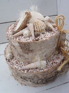 Shells decoration pie Schelpen decoratie taart by BijdeDijk, $24,87 €20.00