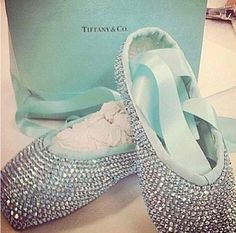 Tiffany Pointe Shoes. These are probably the most beautiful shoes I've ever seen! I always wanted red shoes because of the dance but now all i want are these!!!