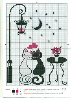 Cat Cross Stitches, Funny Cross Stitch Patterns, Cross Stitch Pictures, Cross Stitch Borders, Simple Cross Stitch, Cross Stitch Flowers, Modern Cross Stitch, Cross Stitch Charts, Cross Stitch Designs