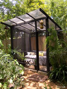 Relaxing screened room for the garden.