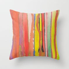 painted lines Throw Pillow by aticnomar - $20.00 Paint Line, Throw Pillows, Toss Pillows, Cushions, Decorative Pillows, Decor Pillows, Scatter Cushions